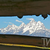 a morning view from Cunningham Cabin, the Grand Tetons , Wyoming