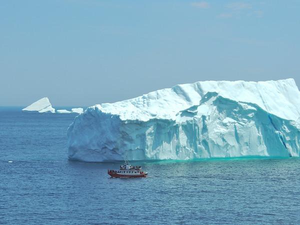 Iceberg viewing, Atlantic Ocean