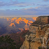 a sunset in the Grand Canyon