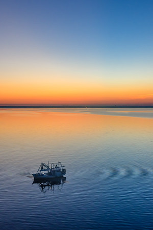 Fishing at Sunset on Mobile Bay