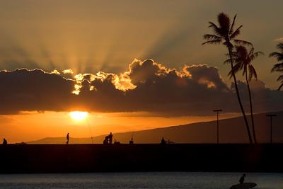 Waikiki, Ala Moana, Sunset in the park