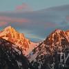 the golden sunrise , morning in the Tetons