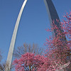 the Arch, early April, St. Louis