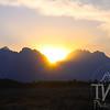 sun set in the Tetons