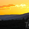 sunrises over a single deer over - looking Snake River Valley, Wyoming