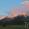 Tetons awake moments before the valley