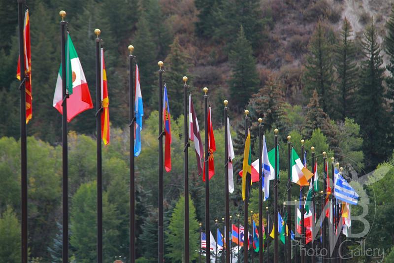 international flags at Beaver Creek, Colorado