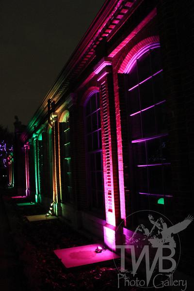 holiday lights at the Missouri Botanical Gardens