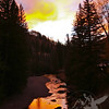 mountain sunset reflections, a fall evening in Vail, Colorado