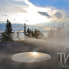 thermals at the banks of Yellowstone Lake