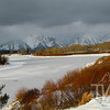 Early December weather touches the Tetons at Oxbow Bend