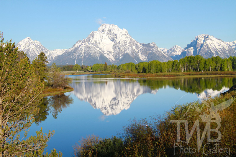Oxbow Bend ,Tetons, in a spring reflective moment