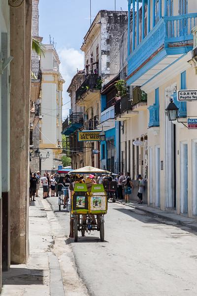 Taxi on an Old Havana Street