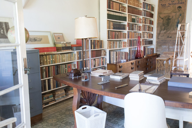 A view showing Hemingway's desk