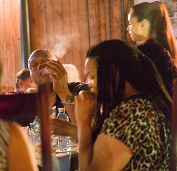 Ken Johnson & Sharon Dabney-Wooldridge are also having a smoke.