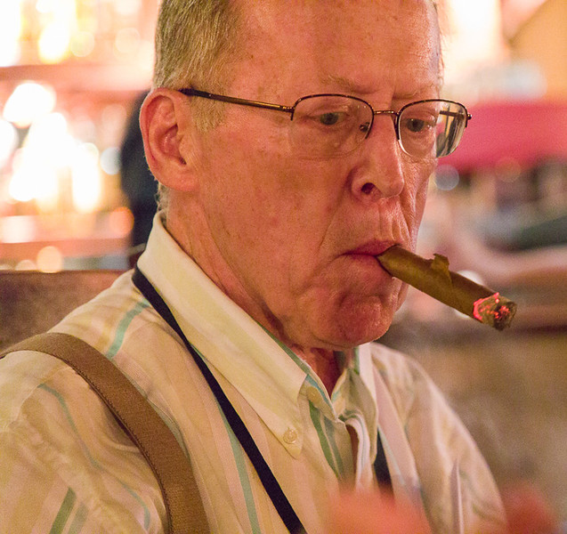 Ron Witkofski looks like he is enjoying his cigar.