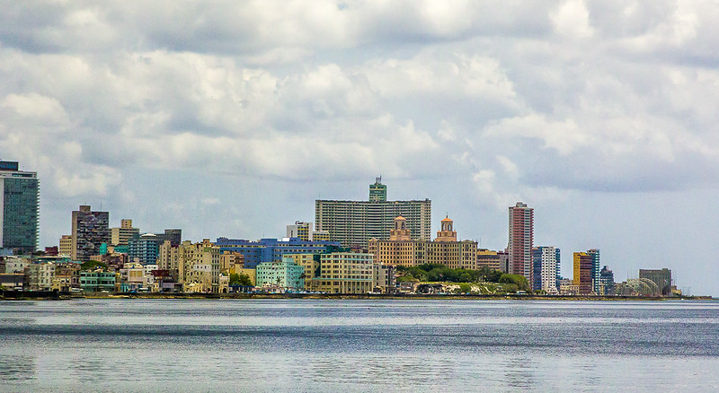 A portion of the skyline of Havana, Cuba.