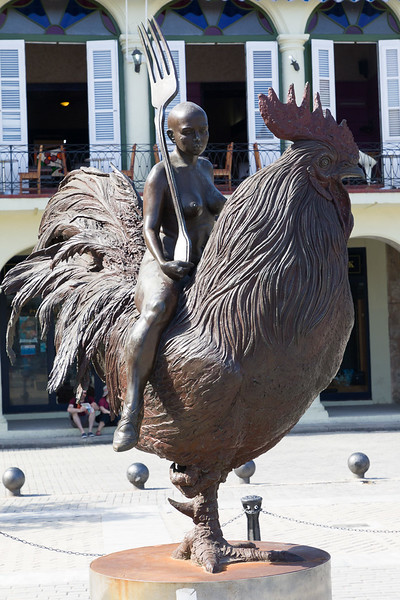 Rooster in the Square