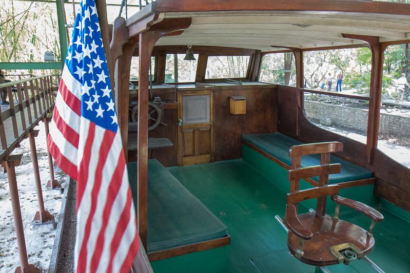 The cabin of Hemingway's boat