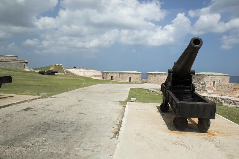 A canon at Morro Castle