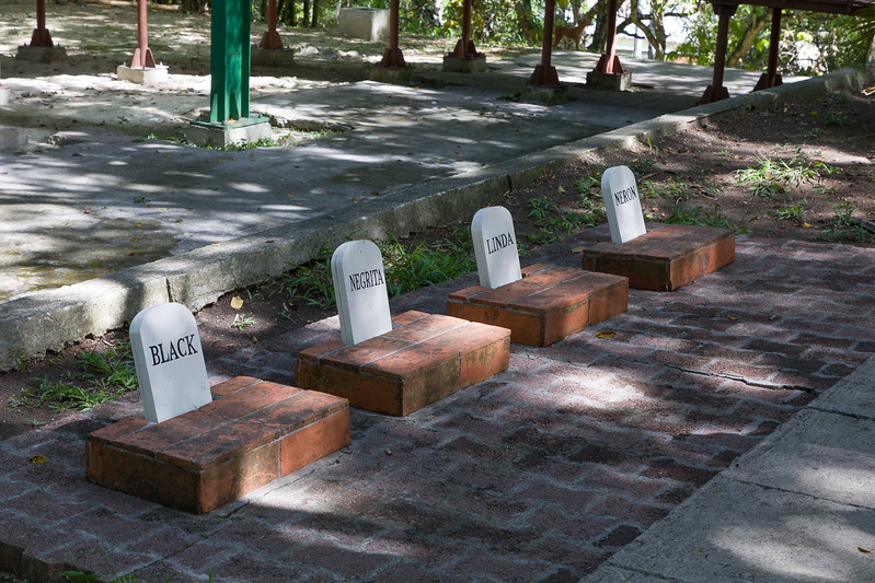 Grave markers at the graves of Hemingway's 4 cats