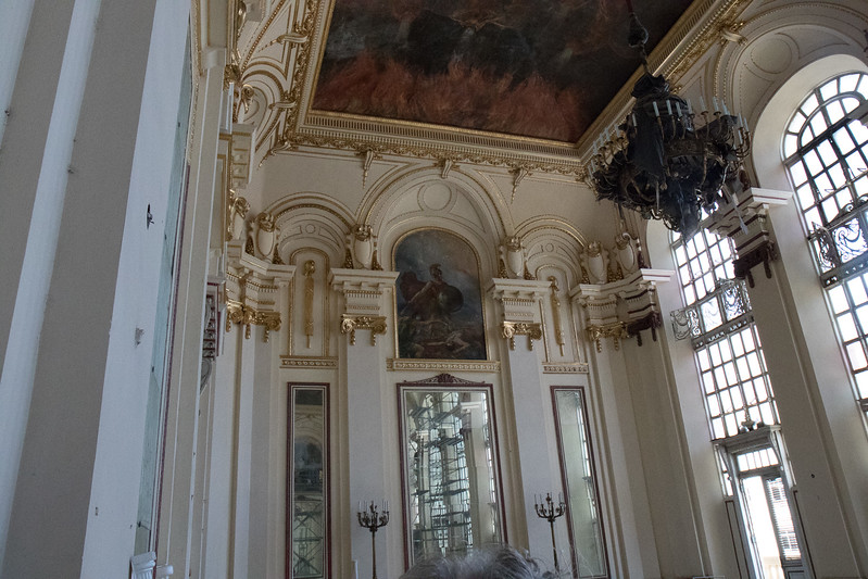 View of the murals and windows