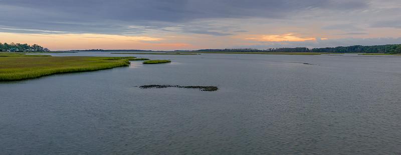 Sunrise Panorama, Chincoteague Marsh