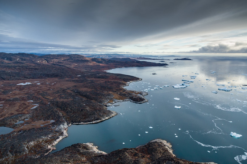 Illulissat Ice Fjord Arial View