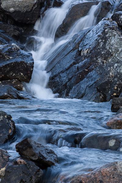 Waterfall on Island in Qeqertanguaq Bay