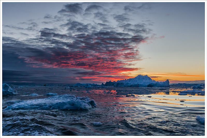 Sunset in Disko Bay