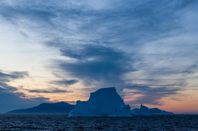Sunset in Umanak Fjord