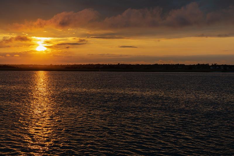 Sunset on Topsail Sound