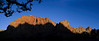 Last Light in Zion National Park