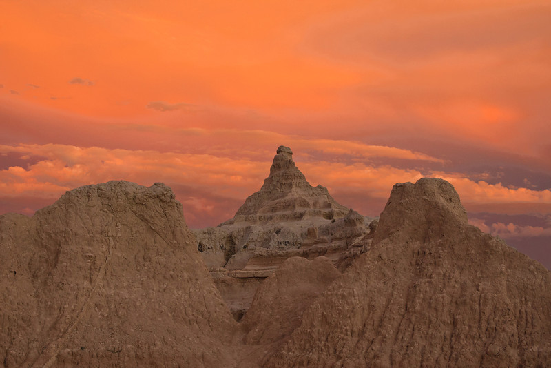 Badlands in Orange