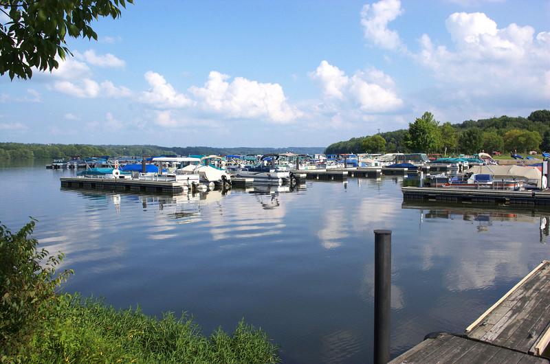 Lake Wilhelm marina at Goddard State Park