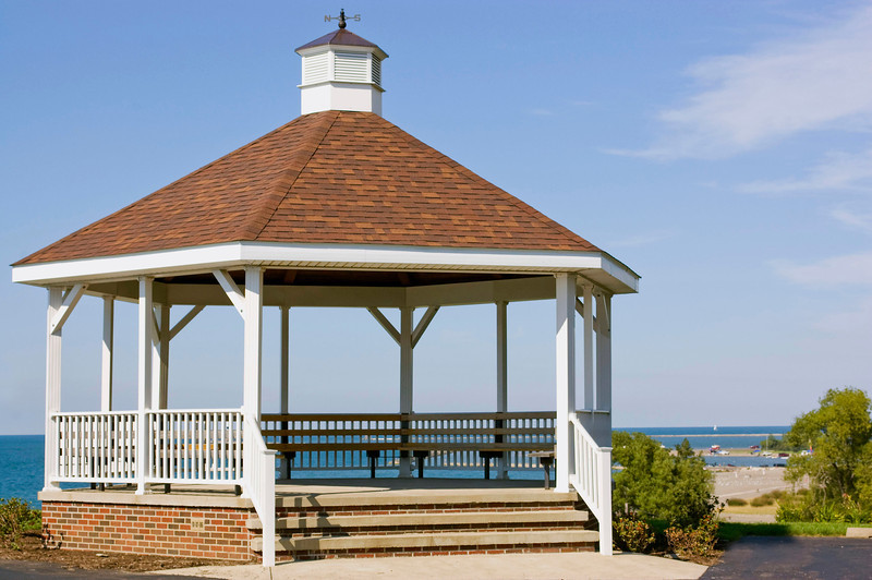gazebo near shore in Conneaut, OH