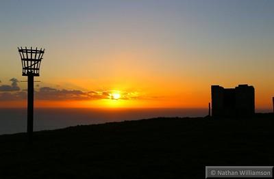Sunset viewed from Wears Hill near Abbotsbury  05/12/14
