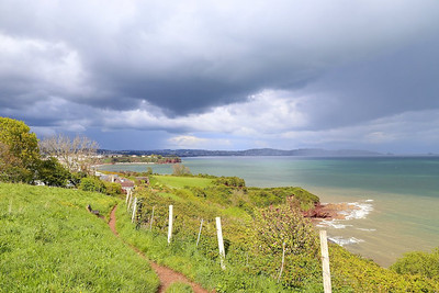 Shower clouds over Torbay, viewed from Sugarloaf hill near Goodrington  27/04/14