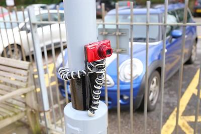 Gorilla Pod on a lamp post in Totnes  30/01/16