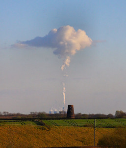 Eggborough Power Station, viewed from Colton Junction  05/04/12