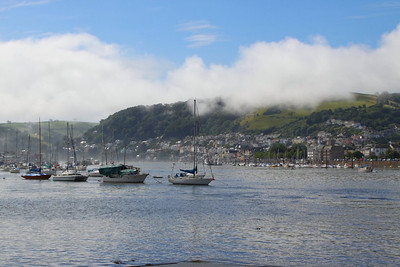Dartmouth with sea mist rolling off the hills  19/08/12