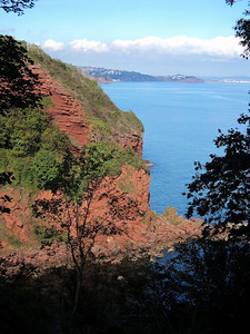 View from Coastal path looking towards Teignmouth  15/10/13