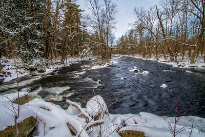 A Mountain Stream in the Winter
