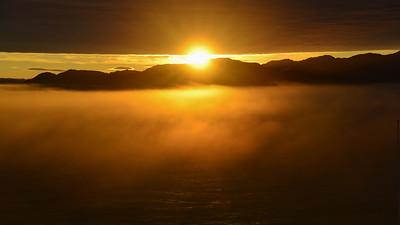 Sunset, Inside Passage, Alaska