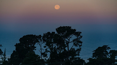 Moonrise, Carmel, California