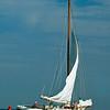 Rebecca T Ruark raising sails
