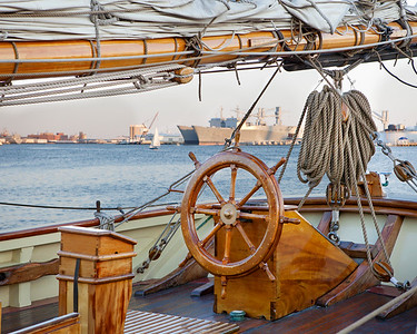 Pride of Baltimore II - Rigging and Wheel