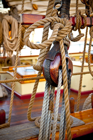 Pride of Baltimore Pulley and Ropes