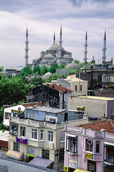 View of the Sultanahmet Cami from the And Hotel
