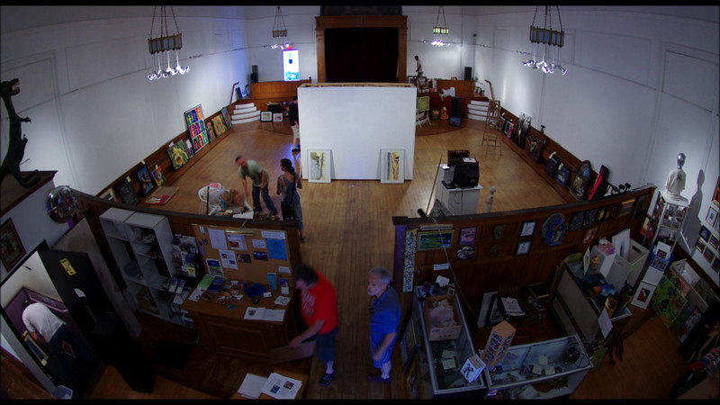 Time-lapse of the art hanging for the annual Public Hanging 22 at Gallery X<br /> New Bedford, MA<br /> August 1st, 2011